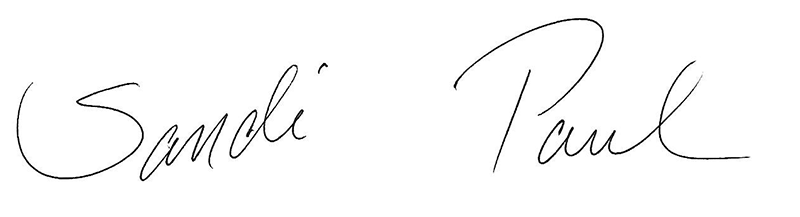 Sany & Paul signature